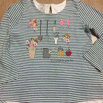 Blusinha manga longa listrada - tamanho 4 - 4 anos - C&A