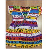 Vestido saída de praia Bahia - tamanho 4 - 4 anos - Não informada