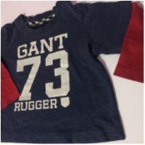 Camiseta manga longa menino - tamanho M - 3 a 6 meses - Gant