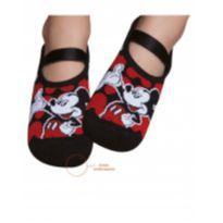 Meia Infantil Sapatilha Disney Mickey Com Solado Antiderrapante Puket - 28 - Puket