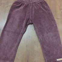 Calça de plush marrom - tamanho 18 a 24 meses - 18 a 24 meses - Marisol