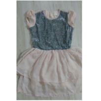 Vestido Carinhoso paetês e organza - tamanho 14 - 14 anos - Carinhoso