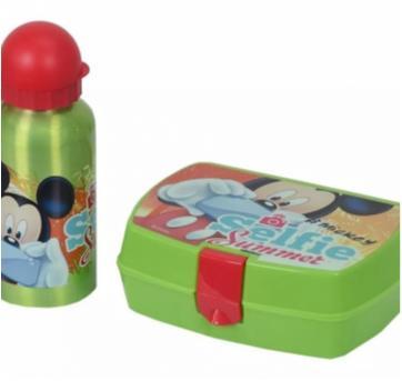 Kit De Lanche Disney Garrafa E Sanduicheira Mickey - DTC - Sem faixa etaria - DTC