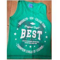 Camiseta regata Tileesul verde - Tamanho 1 - 1 ano - Tile e Sul
