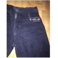 Calça de veludo azul mainho - Bambini - Tamanho 3 - 3 anos - Bambini