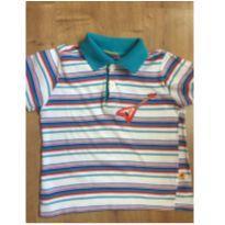 Camisa Polo Mineral Kids listrada - Tamanho 3P - 2 anos - Mineral Kids