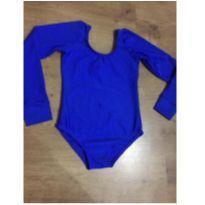 Maiô / Collant de Ballet azul turquesa - Tamanho 4 - 4 anos - Não informada