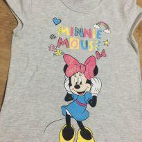 Camiseta Minnie Mouse Infantil - Tamanho 6 - 6 anos - Disney