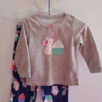 Pijama Fleece Ratinha - 18 meses - Carter`s