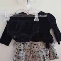 Vestido Plush Coração - 3 a 6 meses - Tip Top