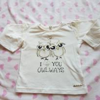 Blusa corujinha - 9 a 12 meses - Molekada