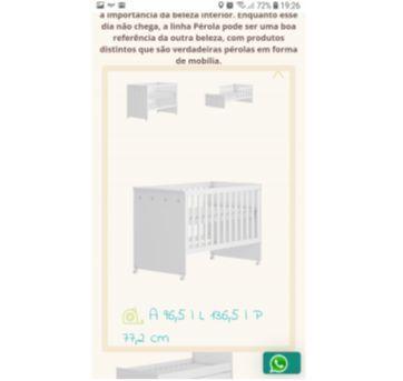 Berço/mini-cama - Sem faixa etaria - Mundo do Bebê