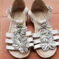 Sandália branca couro - 23 - Ludique et Badin