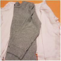 Camiseta manga longa pijama 3 unidades - 2 anos - Não informada
