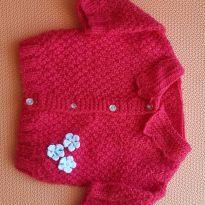 Casaco de lã vermelho - 1 ano - Não informada