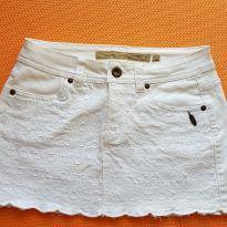 Mini-Saia branca jeans - 14 anos - Handbook