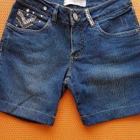 Bermuda jeans strass - 14 anos - Não informada