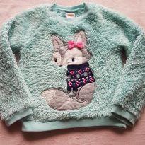 Blusa raposinha peluciada - 3 anos - Gymboree