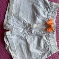 Shorts Branco - 4 anos - Carter`s