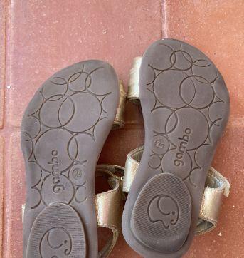 Sandália Dourada Babado - 25 - gambo