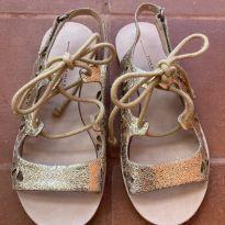 Sandália Dourada Zara - 26 - Zara
