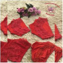 Kit calcinhas vermelha - 1 ano - Sem marca