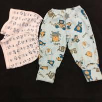 Kit pijama - 6 a 9 meses - Sem marca