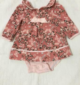 Vestido de borboleta 3 a 6 meses no Ficou Pequeno - Desapegos de ... d47ab53a389b