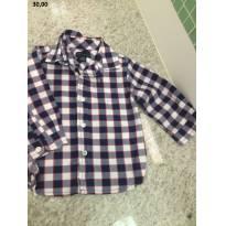 Camisa Tommy Hilfiger - 6 a 9 meses - Tommy Hilfiger