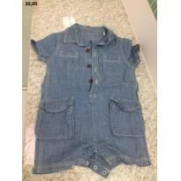 Macaquinho Jeans - 6 a 9 meses - Baby Club