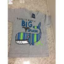 Camiseta baleia - 9 a 12 meses - YOYO KIDS