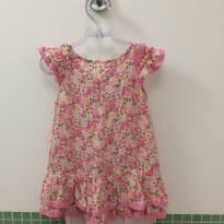Vestido florido com forro - 2 anos - Não informada