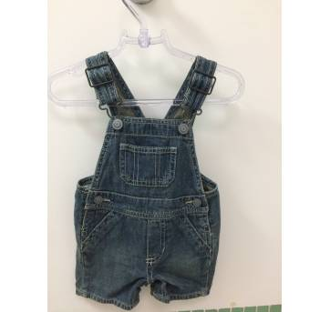 Jardineira jeans - 3 a 6 meses - Love