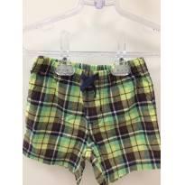 Shorts Xadrez - 9 a 12 meses - Carter`s