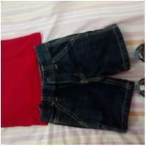 Look de Domingo  Camiseta Tommy Shorts Carters Tênis Tip Toey - 6 a 9 meses - OshKosh e Tommy Hilfiger