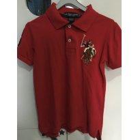Camisa Polo vermelha - Polo US Assn. - Tamanho XXS (4 anos). - 4 anos - US Polo Assn
