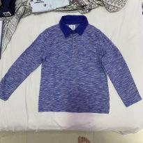Blusa Polo com manga longa - Azul mesclado - Baby gap - 5 anos - 5 anos - Baby Gap