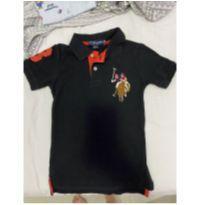 Camisa Polo Preta - US Polo Assn - 4 anos - US Polo Assn