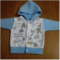 Casaco Soft Azul Clarinho - 6 a 9 meses - sem etiqueta