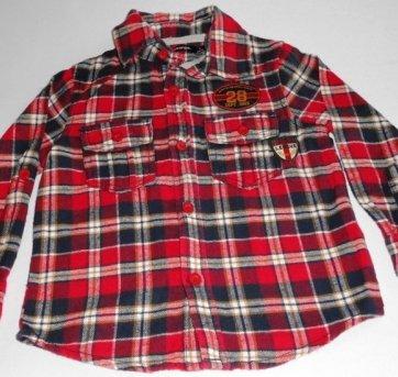 Camisa Xadrez Vermelha Forrada - Inverno