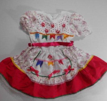Vestido Caipira - Tamanho P -  4 anos