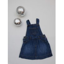 Jardineira Jeans  Gap - 12 a 18 meses - 12 a 18 meses - Baby Gap