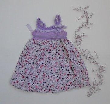Vestido Balonê Lilás - Tamanho 1