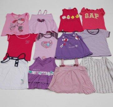 Camisetas Menina - 12 peças - Tamanho 1 - 12 peças !!!