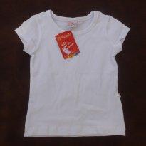 Blusinha /Camiseta Branca- NOVA -  Brandili - Tamanho 2 - TAMANHO 2 - 2 anos - Brandili