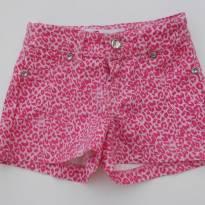 Shorts  Jeans - Oncinha Rosa - Impecável -Tamanho 4 - 4 anos - Sem marca