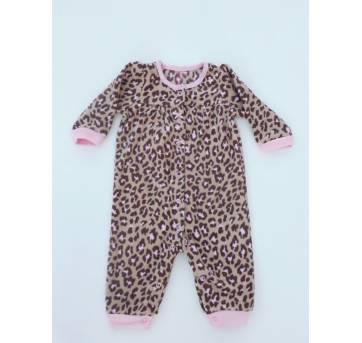 Macacão Oncinha Fleece - Tamanho 6 meses