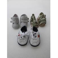 Lote/ Sapatinho Bebê - 3 pares - Tamanho 1  / tamanho 13 - 13 - Pimpolho