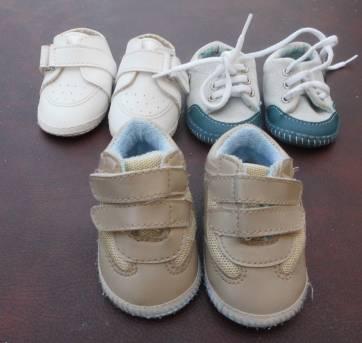Lote Calçados Bebê - 3 pares - Tamanho 2
