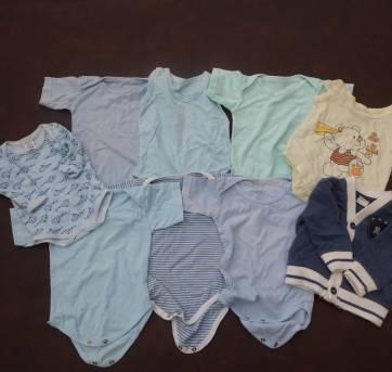 Lote 9 PEÇAS - Bodies Menino - 3 a 6 meses